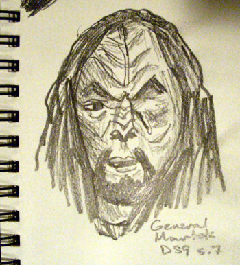 Sketch of General Martok (Klingon) from Star Trek: Deep Space Nine