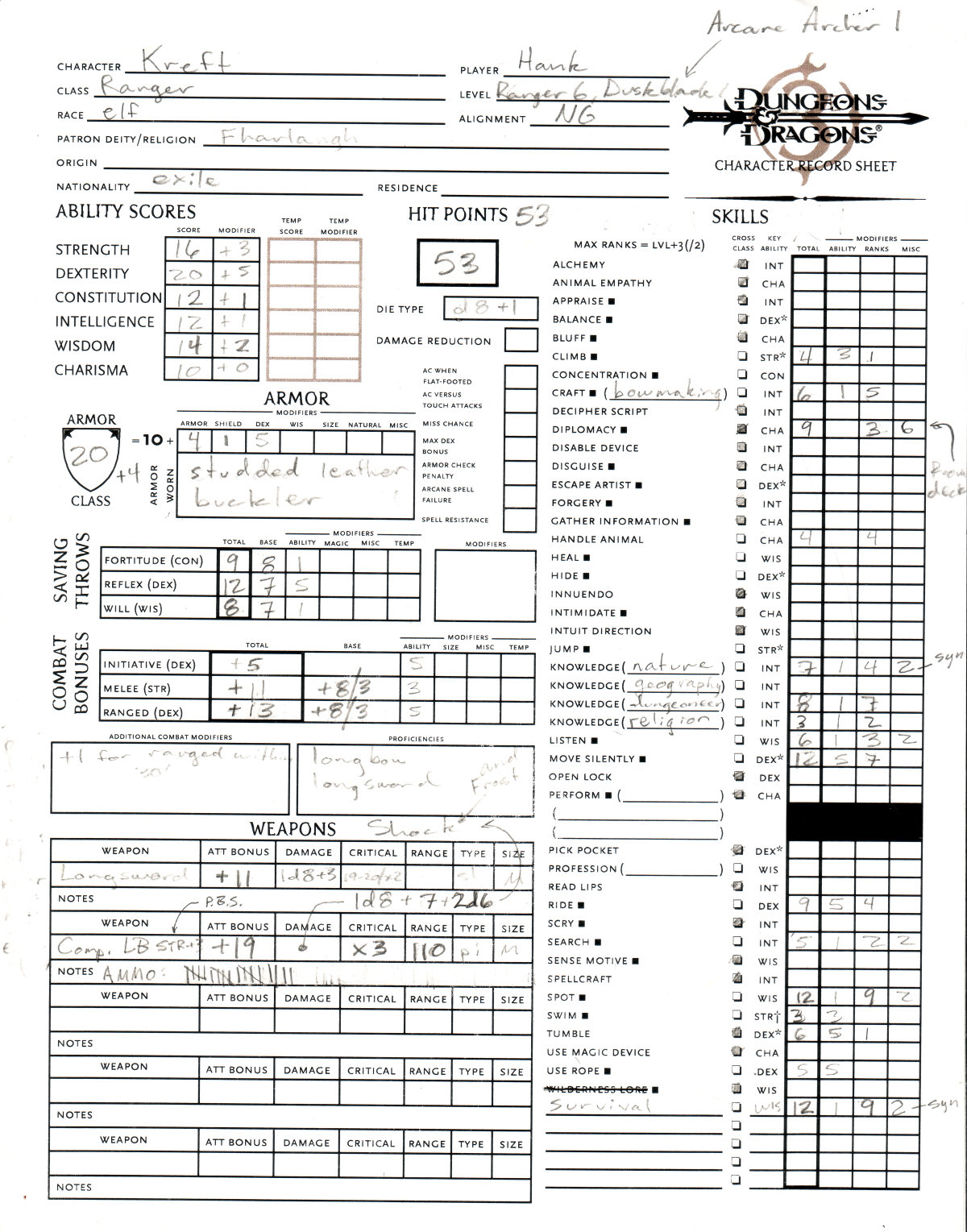 Monk Character Sheet on viewtopic