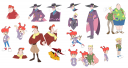 Darkwing Duck characters as humans