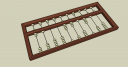 SketchUp model - Chinese abacus