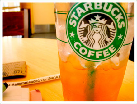 Starbucks iced venti black tea lemonade